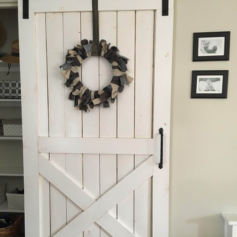DIY Sliding Barn Door on a budget